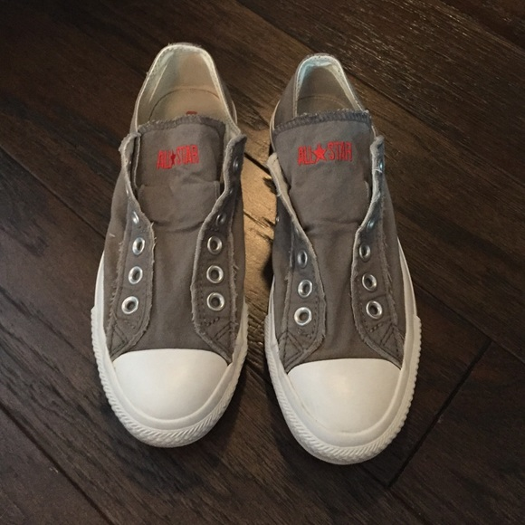 Charcoal Converse Laceless Sneakers