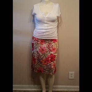 Bob Mackie Floral Print Skirt