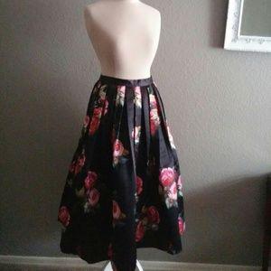 Tea length rose skirt