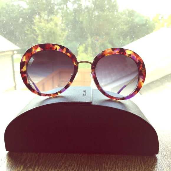 6fd0663a97a8 ... authentic prada blue tortoise sunglasses d2a81 84f4e