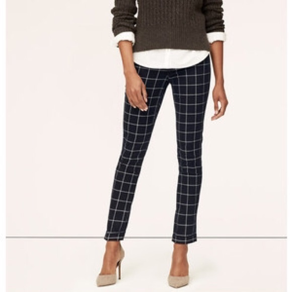 LOFT - LOFT modern skinny ankle jeans in plaid from Kristin's ...