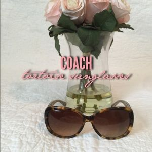 Authentic Coach tortoise sunglasses