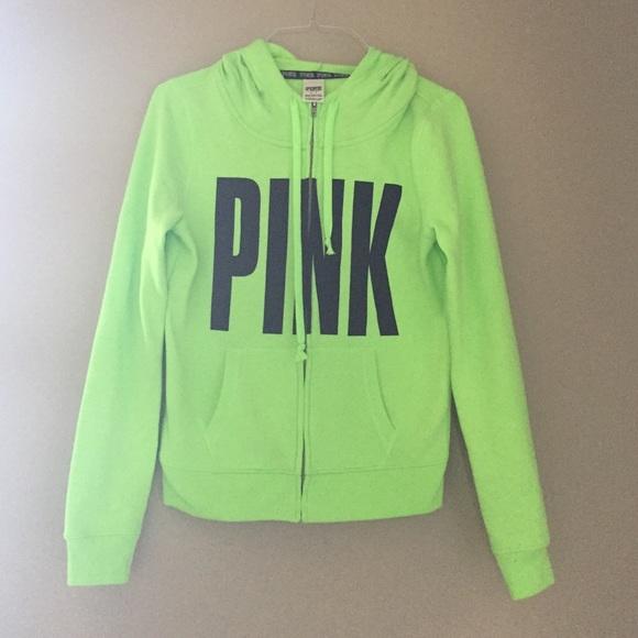 Lime green zip up hoodie