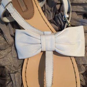 ZARA bow leather sandals