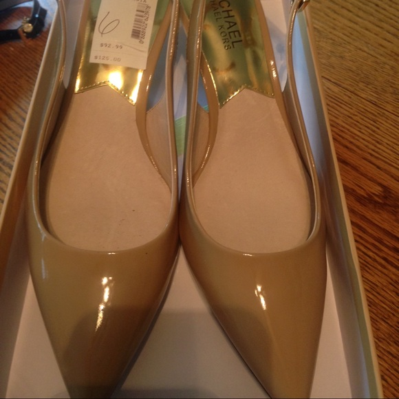 e6847822b5 Michael Kors Shoes | Kelsey Kitten Sling Nude Pumps | Poshmark