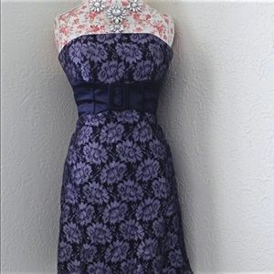 Teeze Me Dresses & Skirts - Purple Floral Lace Strapless Dress