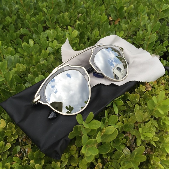 c7af077caf5 Accessories - Dior So Real Silver Reflective Sunglasses