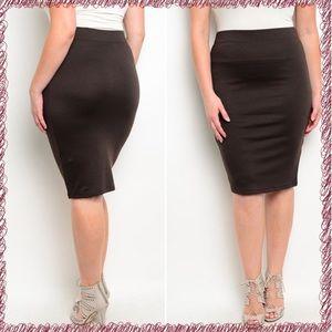 Boutique Dresses & Skirts - 🆕Brown knee length skirt