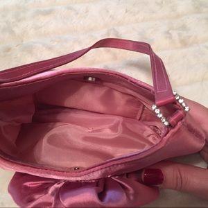 Bags - Pink Satin Flower Evening Bag