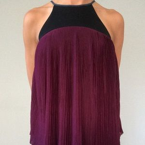 High necked maroon top from Urban Outfitters