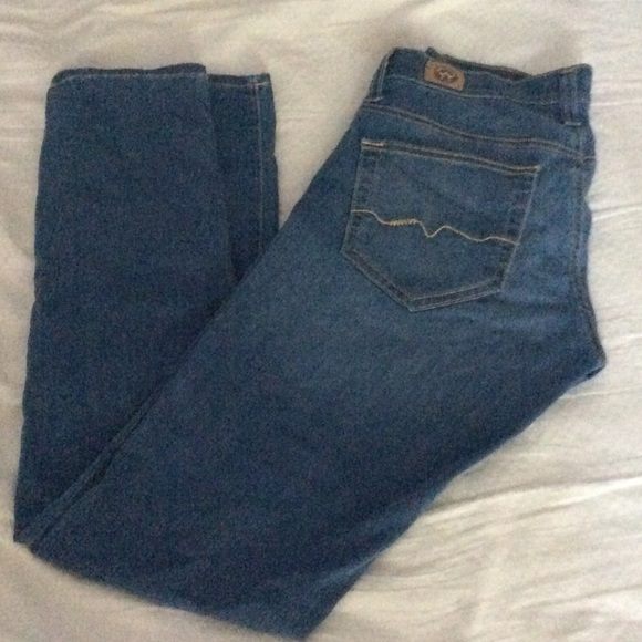 Red Engine low rise skinny jeans 27 stretchy denim