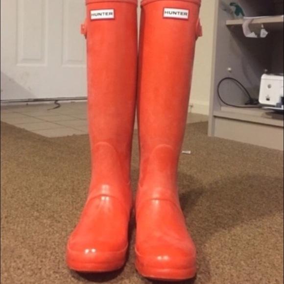 848ca47b7aeb2 Hunter Boots - 💥1Hr Sale💥Orange HUNTER Rain Boots size 8