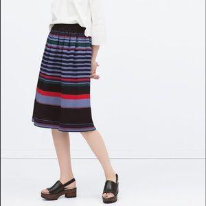 🎉🎉HP🎉🎉NWOT ZARA striped midi skirt
