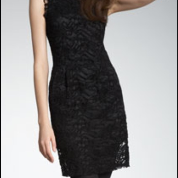 NWT Nanette Lepore Pink Black Lace Dress Retail $149