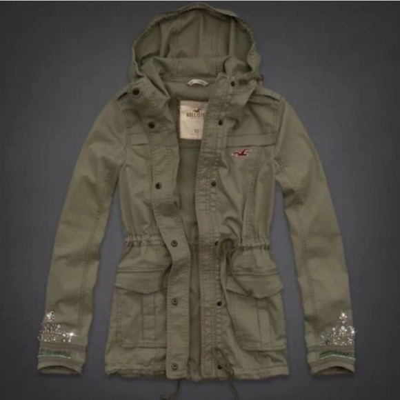 78% off Hollister Jackets & Blazers - Hollister Show's Cove green ...