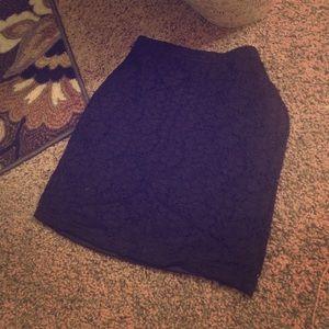 Forever 21 Black Lace Bodycon Mini Skirt