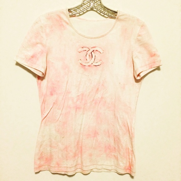 90 Off Chanel Tops Authentic Chanel Pink Short Sleeve