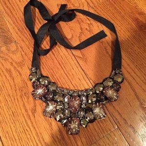 Rhinestone bib necklace