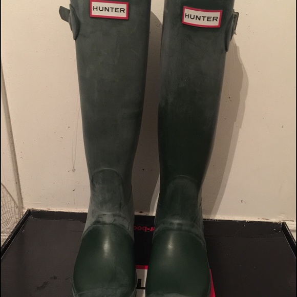 33% off Hunter Shoes - Women's Hunter Dark Olive Green Tall Rain ...