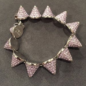 Eddie Borgo Accessories - Eddie Borgo Silver Plated Crystal Cone Bracelet