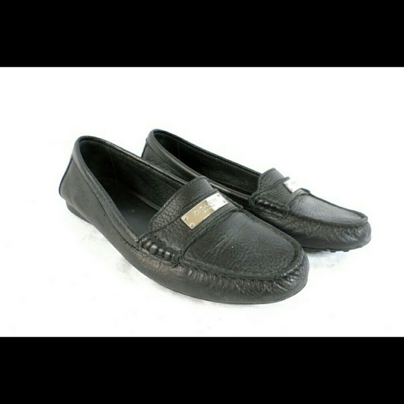 d019c6bffdf Coach Shoes - Coach Fredrica Black Leather Moccasin Loafers