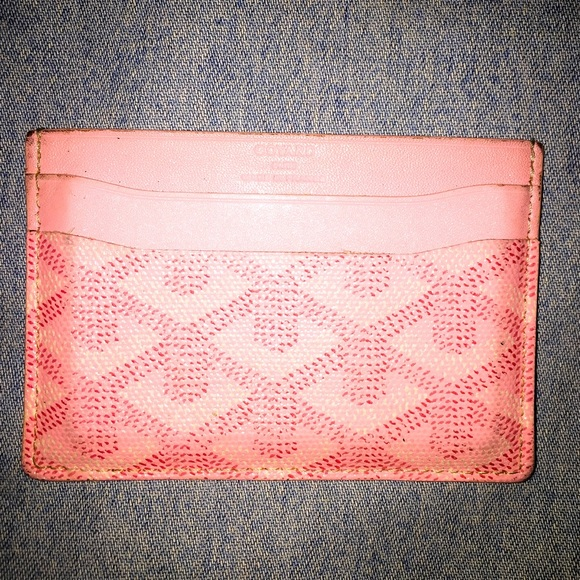 authentic goyard pink card holder - Pink Card Holder