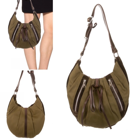 823226e7112a YSL Tom Ford Collection Hobo - Dark Olive