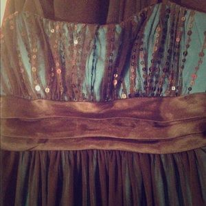 Turquoise dress(: