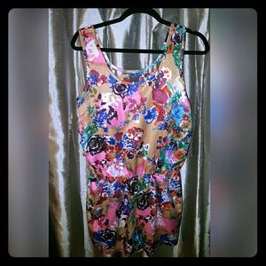 Poof Couture  Dresses & Skirts - **BRAND NEW**Floral sleeveless romper