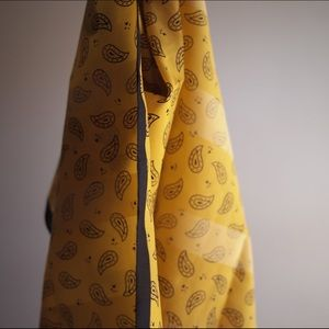 Black and Yellow Paisley Scarf