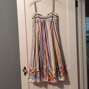 Suzi Chin flutter skirt retro dress