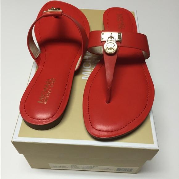 d4c52f1eeb57 MICHAEL Michael Kors Hamilton Flat Sandals