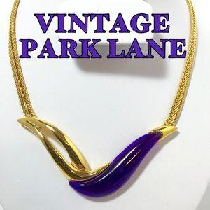 Park Lane Jewelry - 🎉SALE Vintage Park Lane Purple Goldtone Necklace