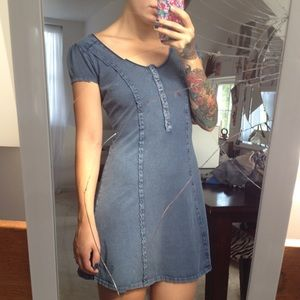 """Denim"" dress"