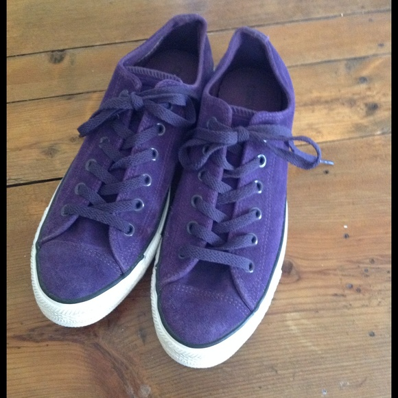 ea11b4ca91895e Converse Shoes - Purple Suede Leather All Star Converse Sneakers