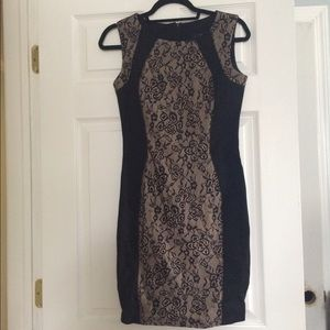ABS Platinum Dresses & Skirts - ABS black lace and nude dress.