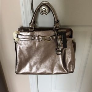 Ellen Tracy Double Handle Clasp Satchel