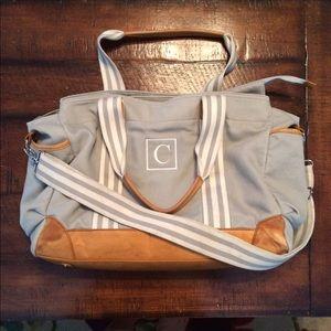 76 off handbags pottery barn classic diaper bag from katie 39 s closet on poshmark. Black Bedroom Furniture Sets. Home Design Ideas