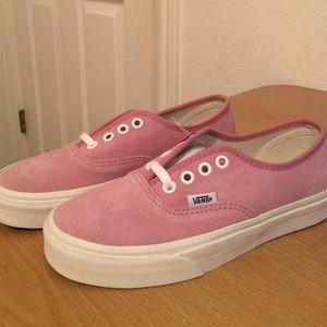 002577aa34 Vans Shoes - Authentic (Vintage Suede) Prism Pink Vans