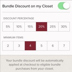 Limited time offer Bundle 4 items get 20% off!!