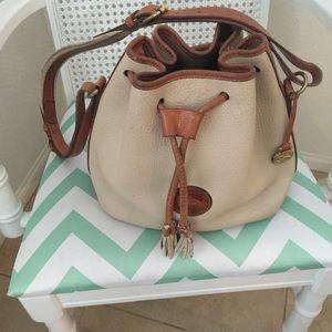 Dooney Bourke beige and brown handbag!!
