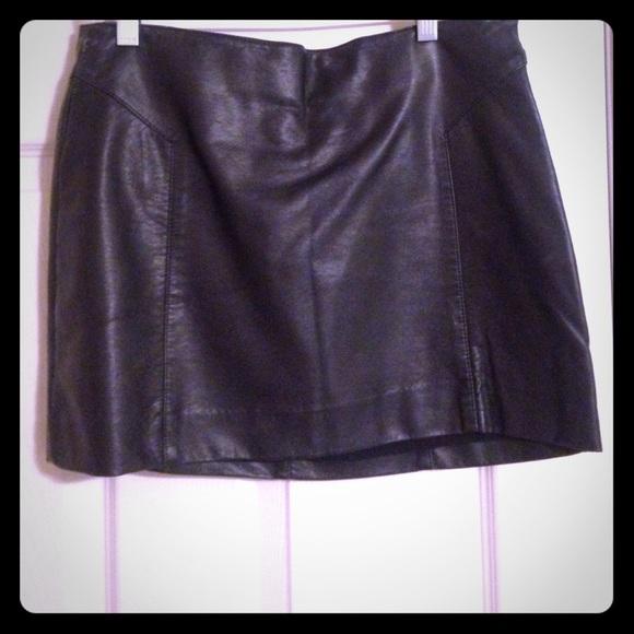 bb dakota skirts black leather skirt