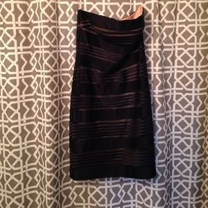 Black cache cocktail dress