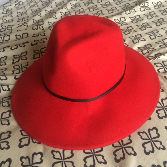 959f670ec14 Forever 21 Accessories - Ruby red wide brim fedora hat