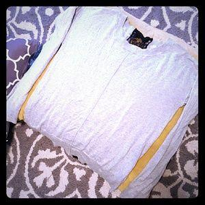 Lauren Conrad Tops - 🌟{Lauren Conrad} Grey Sweater w Lace Back & Bows⭐