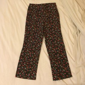 New Frontier Vintage Cropped Floral Pants