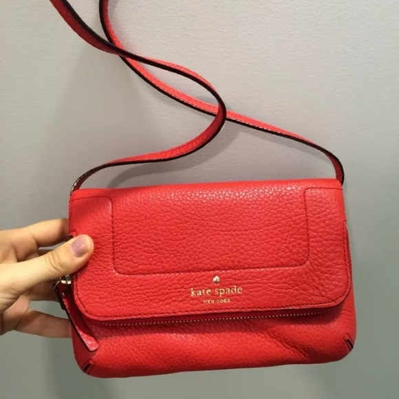 80% off kate spade Handbags - Kate spade red leather crossbody bag ...
