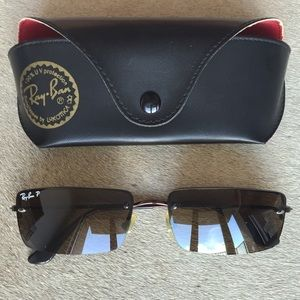 d34db9303aa Ray-Ban Accessories - Ray-Ban Sunglasses Unisex Rimless Rectangle RB3199