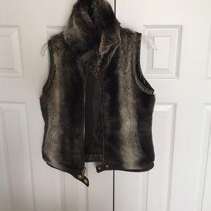 Faux fur winter vest