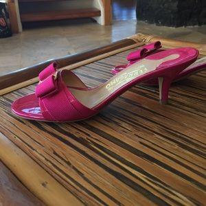 6f984ae9485 Salvatore Ferragamo Hot Pink Low Heels NWT